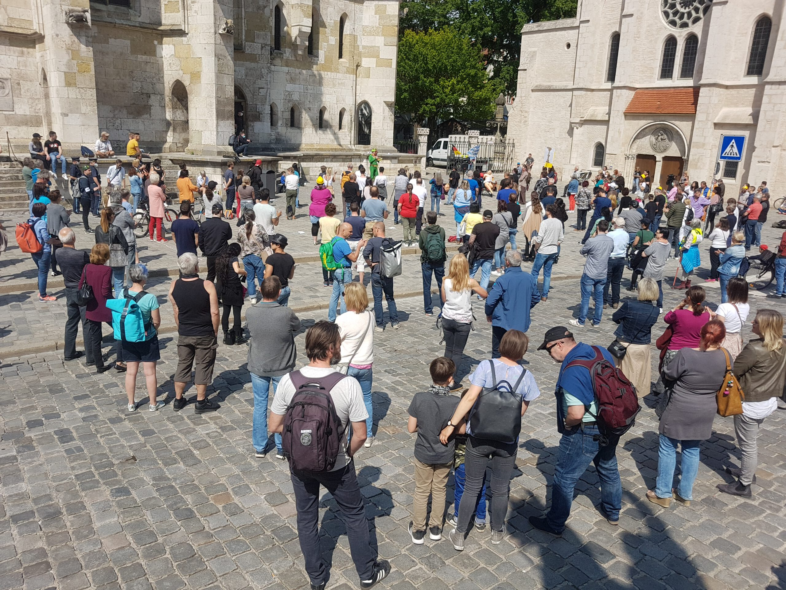 Corona-Protest Regensburg © Peter Hollatz