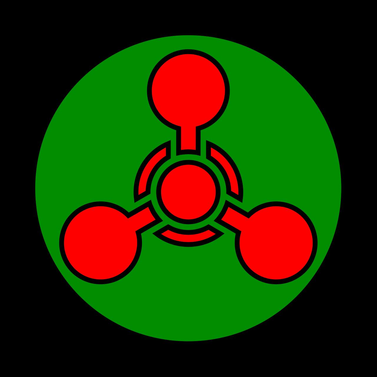 Warnzeichen der US-amerikanischen Streitkräfte für chemische WaffenPublic domain