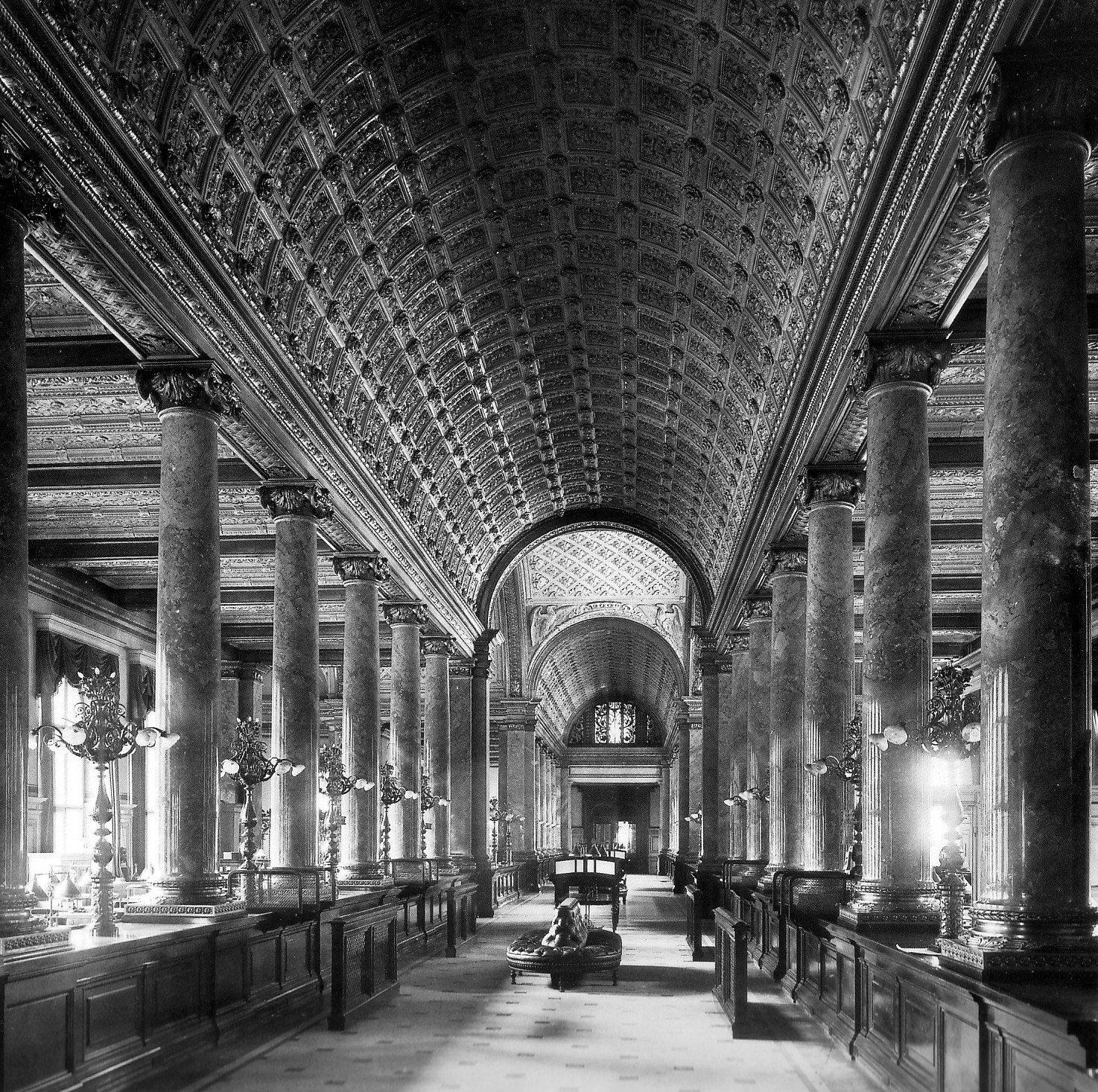 Kassenhalle im Erweiterungsbau, 1903Königlich Preußische Messbildanstalt • Public domain